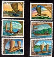 1973 Cook Islands - Pirogas And Other Polynese Shipps - 6v MNH** MI 365 -369 + 370-371 (hj) - Cookinseln