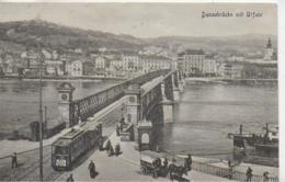 AK 0094  Linz - Donaubrücke Mit Urfahr Um 1920 - Linz Urfahr