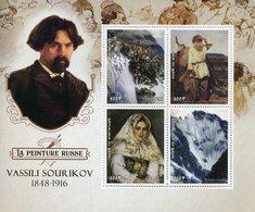 Benin 2018 MNH Vasily Surikov Vassili Sourikov Russian Painter 4v M/S Art Paintings Stamps - Art