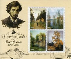 Benin 2018 MNH Isaac Levitan Russian Painter 4v M/S Trees Landscapes Art Paintings Stamps - Art