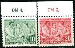 DDR - Mi 450 / 451 Oberrand - ** Postfrisch (B) - 10-20Pf              Internationaler Frauentag - [6] République Démocratique