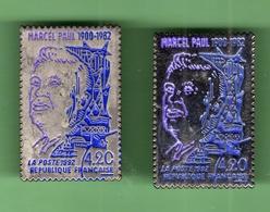 LA POSTE *** TIMBRE MARCEL PAUL *** Lot De 2 Pin's Differents *** POSTE-03 - Mail Services