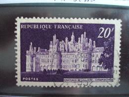 """1950-1959-timbre Oblitéré N° 924      """"  Chambord    """"     Cote    0.30    Net      0.10 - France"""