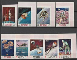 FUJEIRA - N° 95+PA 29 ** NON DENTELE (1969) Retrospective Surcharge : MOON LANDING - ESPACE - - Space
