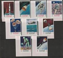 FUJEIRA - N°90+PA 27 **  DENTELE (1969) Retrospective - ESPACE - - Space