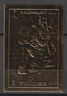 FUJEIRA - TIMBRE OR  ** NON  DENTELE (1970) - ESPACE - Descente D'Armstrong Sur La Lune - Space