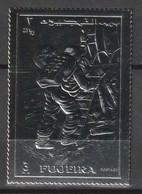 FUJEIRA - TIMBRE AG  **  DENTELE (1970) - ESPACE - Descente D'Armstrong Sur La Lune - Space