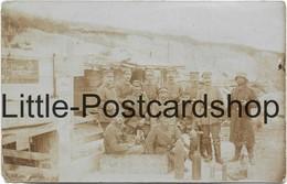 2 Fotos Förderbahn Betriebskompanie Saint Souplet 1917 Schild Uhrmacher Granaten - Guerre 1914-18