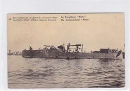 """EST AFRICAIN ALLEMAND (OCCUPATION BELGE). LE TORPILLEUR """"NETTA"""". WATERLOW...OBLITERE KIGOMA 1918.- BLEUP - Enteros Postales"""