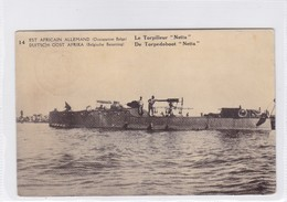 "EST AFRICAIN ALLEMAND (OCCUPATION BELGE). LE TORPILLEUR ""NETTA"". WATERLOW...OBLITERE KIGOMA 1918.- BLEUP - Stamped Stationery"