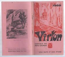 1968 VIRTON CAPITALE DU PAYS GAUMAIS VOUS INVITE ET VOUS ATTEND - PUB. OPEL CHEVROLET BUICK Etc... AERODROME DE LATOUR - Kultur