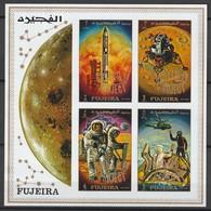 "FUJEIRA - BLOC  ** NON DENTELE (1970) - ESPACE - Gémini/ Apollo : Surcharge ""Apollo 14 Project"" - Space"
