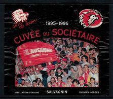 Rare //Etiquette De Vin // Hockey Sur Glace // Salvagnin, Cuvée Du Sociétaire Du Lausanne-Hockey-Club 1995-1996 - Etiquettes