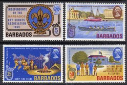 BARBADOS - 1969 SCOUTS ANNIVERSARY SET (4V) FINE MNH ** SG 393-396 - Barbados (1966-...)