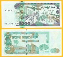 Algeria 2000 Dinars P-144(2) 2011 New Signature UNC - Algérie