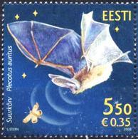 Mint Stamp Fauna Bat 2008 From Estonia - Bats