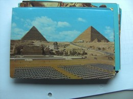 Egypte Egypt The Pyramids Of Giza Gizeh And Great Sphinx And Environment - Gizeh