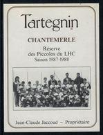 Rare //Etiquette De Vin // Hockey Sur Glace // Tartegnin,Réserve Des Piccolos Du Lausanne-Hockey-Club 1987-1988 - Etiquettes