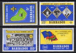 BARBADOS - 1972 SCOUT JUBILEE SET (4V) FINE MNH ** SG 444-447 - Barbados (1966-...)