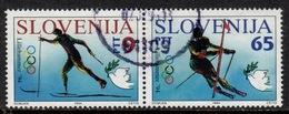 SLO+ Slowenien 1994 Mi 76-77 Winterspiele Lillehammer - Slovénie