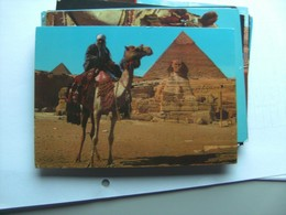 Egypte Egypt Giza Gizeh Camel Driver And Pyramid And Sphinx - Gizeh