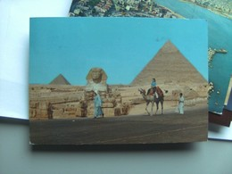 Egypte Egypt Giza Gizeh Camel , People,  Pyramid And Sphinx - Gizeh