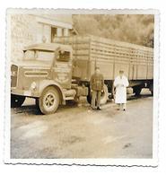 Camion De Transport Wegnez Ensival à La Douane Française Douanier  Photo 8,5x8,5 - Anonymous Persons