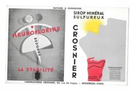 Buvard Pharmaceutique - Neuroflorine - Sirop Minéral Sulfureux - Crosnier - Produits Pharmaceutiques