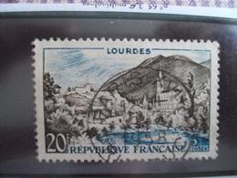 """1950-1959-timbre Oblitéré N°  976     """"  Lourdes    """"     Cote  0.50      Net     0.15 - France"""