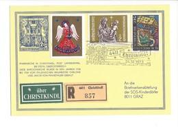 20956 - Christkindl 24.12.1973 Recommandé Pour Graz + Vignette über Christkindl - Noël