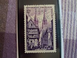 """1950-1959-timbre Oblitéré N°   979    """"  Quimper    """"     Cote    0.15    Net      0.05 - Oblitérés"""