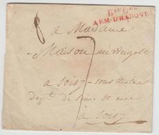 LSC MARQUES D'ARMEES - LSC - BAU GAL ARM. D'HANOVRE - Rge - Sans Date - TB - Marcophilie (Lettres)