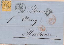 LAC MARQUES D'ENTREE (N° Noël) - LAC - N°1197 - Suisse 1 St Louis - 16/2/65 (Rge) + 7 A.E.D Rge - Pr Mulhouse - TB - Marcophilie (Lettres)
