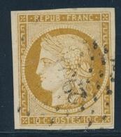 O EMISSION CERES 1849 - O - N°1 - 10c Bistre - Obl. PC - TB - 1849-1850 Cérès