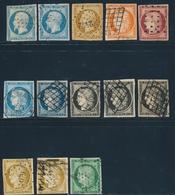 O EMISSION CERES 1849 - O - N°1/6, 9/10 + Qques Dbles - Avec Défts - Maj. Bel Aspect - 1849-1850 Cérès