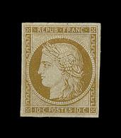 * EMISSION CERES 1849 - * - N°1a - Bistre Brun - Signé Calves - TB - 1849-1850 Cérès