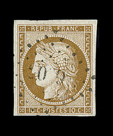 O EMISSION CERES 1849 - O - N°1a - Bistre Brun - Signé Brun  - TB - 1849-1850 Cérès