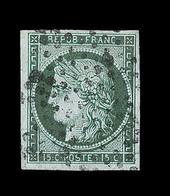 O EMISSION CERES 1849 - O - N°2c - 15c Vert Très Foncé - Signé Calves - TB - 1849-1850 Cérès