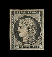 ** EMISSION CERES 1849 - ** - N°3 - 20c Noir - TB - 1849-1850 Cérès