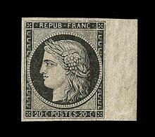 * EMISSION CERES 1849 - * - N°3 - 20c Noir - Bdf - TB - 1849-1850 Cérès