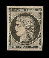 * EMISSION CERES 1849 - * - N°3f - Réimpression Du 20c Noir - TB - 1849-1850 Cérès