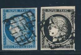 O EMISSION CERES 1849 - O - N°3/4 - Obl. Grille - TB - 1849-1850 Cérès