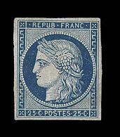 * EMISSION CERES 1849 - * - N°4 - 25c Bleu - Comme ** - B - 1849-1850 Cérès