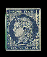 * EMISSION CERES 1849 - * - N°4 - 25c Bleu - Marges Régulières - Signé Thiaude + Certificat Weid - TB - 1849-1850 Cérès
