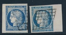O EMISSION CERES 1849 - O - N°4 (x 2ex) - Avec BDF - Signés - Superbe - 1849-1850 Cérès