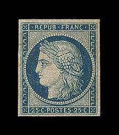 * EMISSION CERES 1849 - * - N°4a - 25c Bleu Foncé - Signé Balasse - TB - 1849-1850 Cérès