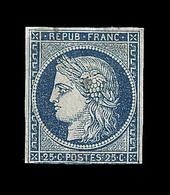 * EMISSION CERES 1849 - * - N°4a - Filet Inf. Effleuré - Clair - 1849-1850 Cérès