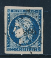 O EMISSION CERES 1849 - O - N°4a - Pli Horizontal - Asp. SUP - 1849-1850 Cérès