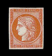 (*) EMISSION CERES 1849 - (*) - N°5 - 40c Orange - Signé Thiaude - TB - 1849-1850 Cérès