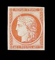 (*) EMISSION CERES 1849 - (*) - N°5 - 40c Orange - Signé - TB - 1849-1850 Cérès